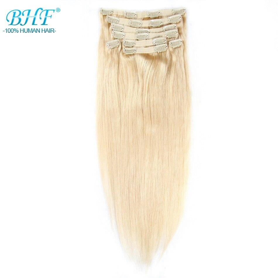 BHF Clip en Extensions de Cheveux Humains Remy Droite Clip Dans Les Extensions 8 pièces/ensemble 120g 18 20 livraison gratuite 100% Naturel Cheveux