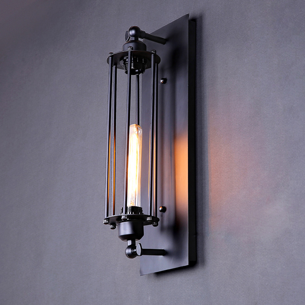 ФОТО Vintage Industrial Lighting E27 220V American style Louis Poulsen scone light wall lamp vintage iron loft flute wall lamps