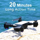 SMRC FPV RC Drone S20 With Live Video And Return Home Foldable RC With HD 1080P Camera Quadrocopter Return Home Foldable toy