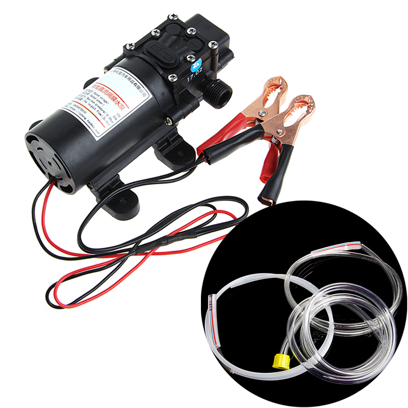 DC12V 5L Transfer Pump Extractor Oil Fluid Scavenge Suction Vacuum For Car Boat manka care 110v 220v ac 50l min 165w small electric piston vacuum pump silent pumps oil less oil free compressing pump