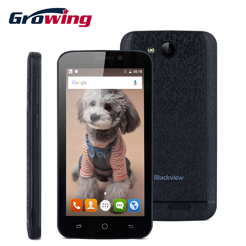 Original Blackview A5 MTK6580 Quad Core Cell Phones Android 6.0 4.5 Inch 3G Network Unlock Mobile Phone 1G RAM 8G ROM Smartphone