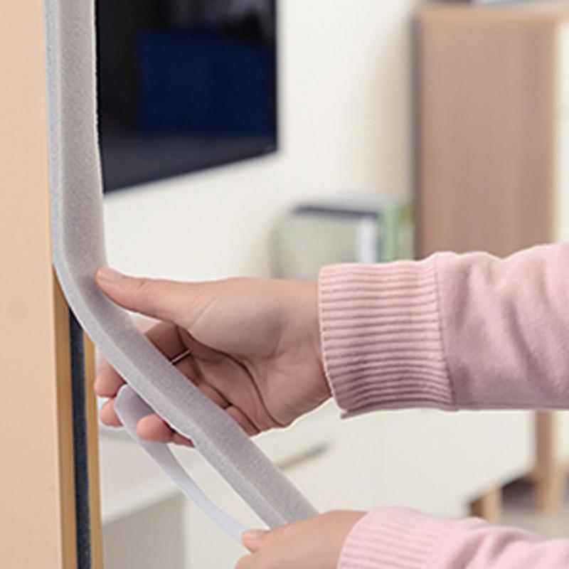 2M/4M Self-adhesive Soundproofing Sound Proof Door Seal Sealing Strip Acoustic Foam Windproof Strip Window Seal Foam Foam Rubber