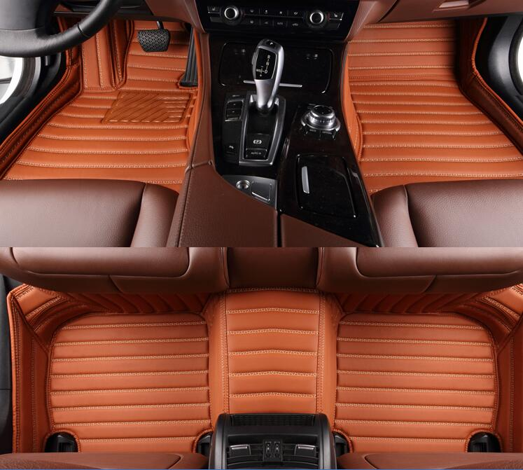 Best quality! Custom special floor mats for Ford Mustang 2doors 2018-2015 Easy to clean carpets for Mustang 2016,Free shipping