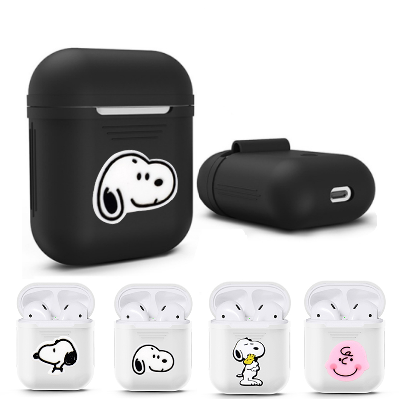 3D Cute Dog Wireless Bluetooth Earphone Case For Apple AirPods Silicone Charging Headphones Cases For Airpods2 Protective Cover