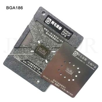 0.15MM EMMC EMCP UFS BGA153 BGA162 BGA169 BGA254 Reballing Stencil Plant Tin Steel Net With Fixed Plate And Adjustable Steel Net