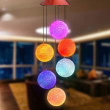 Солнечный ветряной колокольчик светильник светодиодный садовый подвесной Спиннер лампа Изменение цвета декоративный светильник открытый светильник вечерние Декор подарок