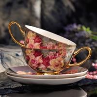 Retro European Style High Quality Bone Porcelain Cup Set Ceramic Cup British Afternoon Tea Cup Black Tea Creative Gift
