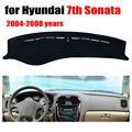 Sétimo cobre esteira do painel do carro para Hyundai Sonata 2004-2008 Left hand drive dashmat pad tampa do traço auto dashboard acessórios