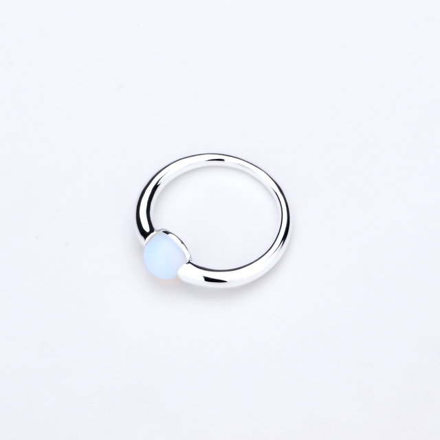 MetJakt Natural Gem Moonstone Ring Solid 925 Sterling Silver for Women Fashion Jewelry Vintage Wedding Engagement Rings