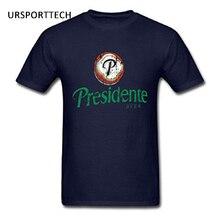 URSPORTTECH Father's Day Men's Presidente Dominican Republic Beer T-Shirts 2017 Summer New Cotton Short Sleeve t shirt Men