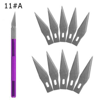 1 rękojeść noża z 11 ostrzami wymiana 1 # telefon komórkowy PCB DIY narzędzia do napraw ręcznych skalpel chirurgiczny ostrze tanie i dobre opinie Fbiannely Maszyny do obróbki drewna STAINLESS STEEL Wielu nóż
