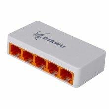 5 Ports Fast Ethernet RJ45 10/100Mbps  Network Switch Switcher Hub Desktop laptop,Portable Travel Lan Hub power by Micro USB