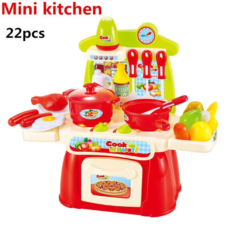 11 Pz Set Utensili Cucina Stoviglie Miniatura Giochi Bambini Regalo ...