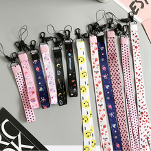 Aokin Cute Cartoon Lanyard Neck Strap for Keys ID Card Holder Phone Strap Wrist Straps Hand Lanyard for Phones Keycord Nekband(China)