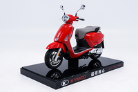 1:10 Diecast Model for KYMCO Any Like 150 Red Motorbike Rare Alloy Toy Collection Mini Motorcycle
