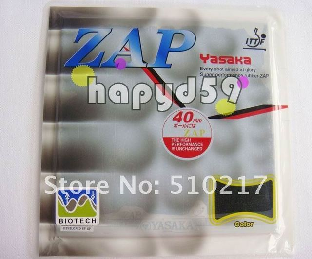 2pcs genuine YASAKA ZAP-40mm (BIOTECH) super-performance rubber comprehensive type table tennis rubber with sponge 36-38 degrees