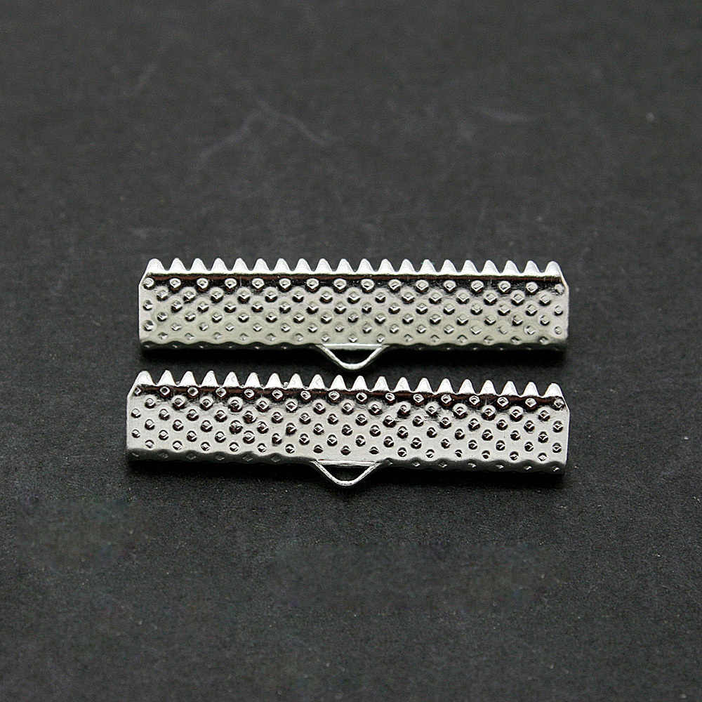 Prix de gros 30 pcs/lot embouts plaqués Rhodium perles à sertir 30mm pour bricolage bijoux résultats accessoires CN-FKG007-69