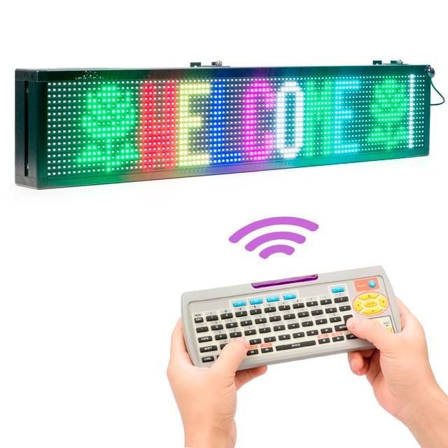 76 СМ 16*96 пикселей SMD RGB Полный Цвет Беспроводной Пульт Дистанционного Управления клавиатура СВЕТОДИОДНАЯ Вывеска 110 В/220 В 24 H Открытый Сообщение СВЕТОДИОДНЫЙ Дисплей доска