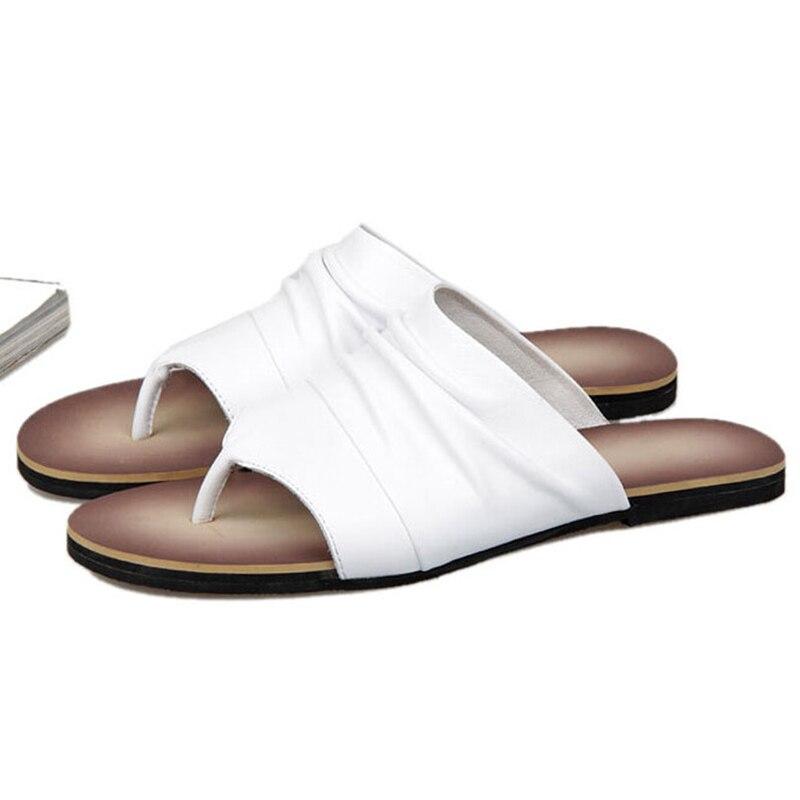 ONS 6 10 Mannen Vintage Lederen Casual Flip Flop Slipper Casual Strand Sandalen Zomer Outdoor Schoenen - 2