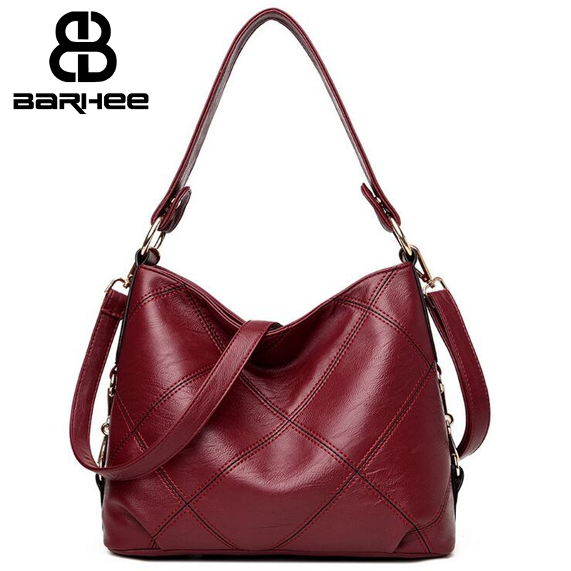 Women Handbag Leather Plaid Messenger Bag Sac a Main Shoulder Bags Women Crossbody Bag Ladies Designer High Quality Hobo Handbag women designer leather smiley trapeze handbag luxury lady smiling face purse shoulder bag girl crossbody bag sac femme neverfull