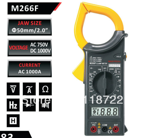 FREE SHIPPING HIGH QUALITY MASTECH DIGITAL AC CLAMP METER M266F  цены