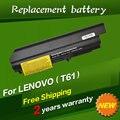 """41u3196 41u3198 asm 42t5265 jigu batería del ordenador portátil para ibm/lenovo thinkpad r400 t400 r61 r61i t61 t61p t61u (14.1 """"widescreen)"""