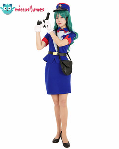 Image 2 - Officer Jenny Cosplay Costume Dress Woman Blue  Skirt Outfits