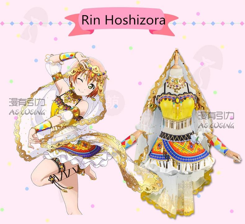 Amor ao vivo! Escola Idol Projeto Despertar Árabe Dancer Series Rin Hoshizora Cosplay Halloween costume Frete Grátis.