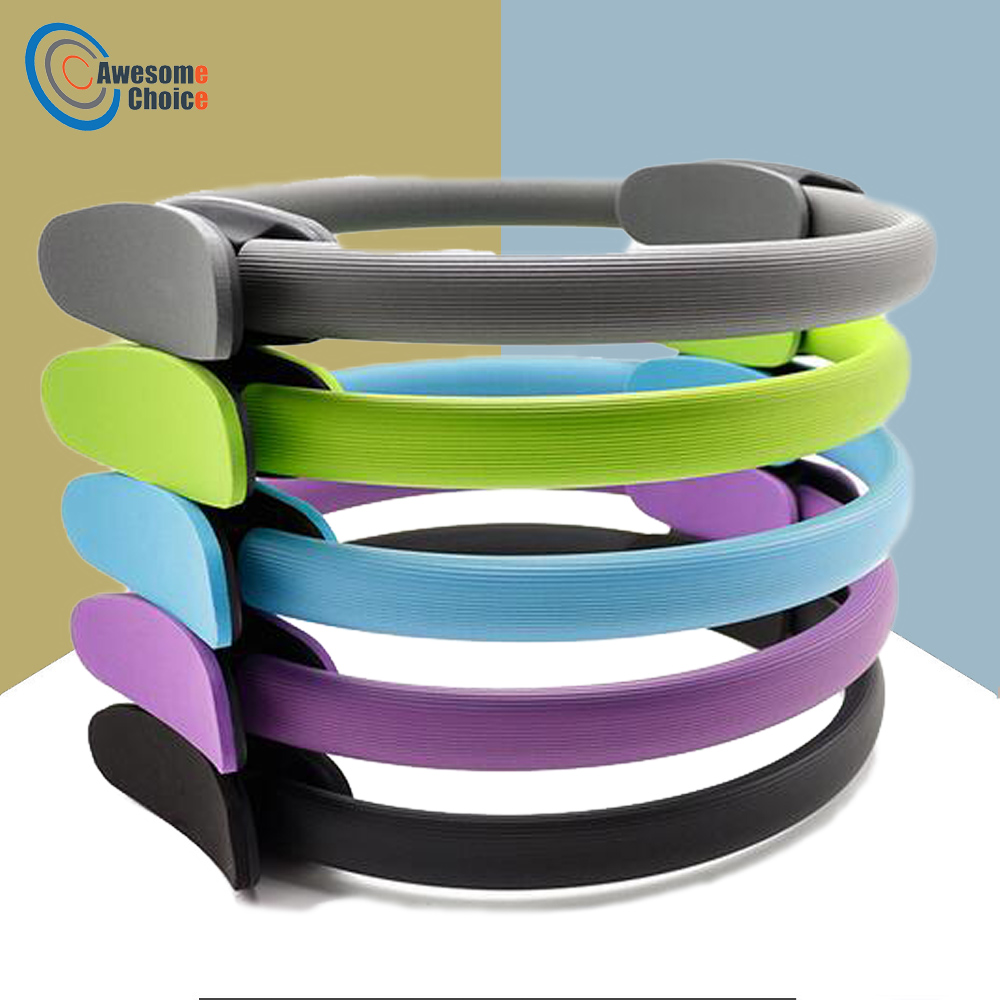 Quality Yoga Pilates Ring Magic Wrap Slimming Body Building Training Heavy Duty PP+NBR Material Yoga Circle 5 colors(China)