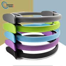 Quality Yoga Pilates Ring Magic Wrap Slimming Body Building Training Heavy Duty PP+NBR Material Yoga Circle 5 colors(China)