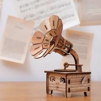 A PCS Retro wooden phonograph music box music box creative ornaments send girls birthday children's holiday gifts AP5171011