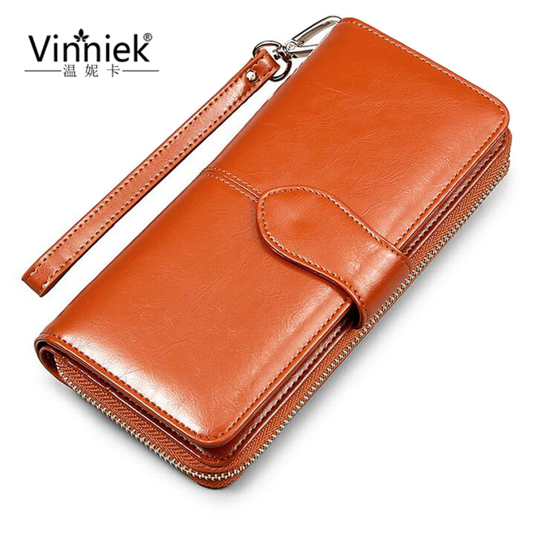 ФОТО Fashion Purse Female Wallet Women Luxury Famous Brand Oil Wax Leather Ladies Clutch Bag Card Holder portefeuille femme carteiras