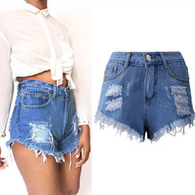 NiceMix Denim Shorts New Arrival 2019 Womens Fashion Brand Vintage Tassel Ripped Loose High Waist Punk Sexy Short Jeans