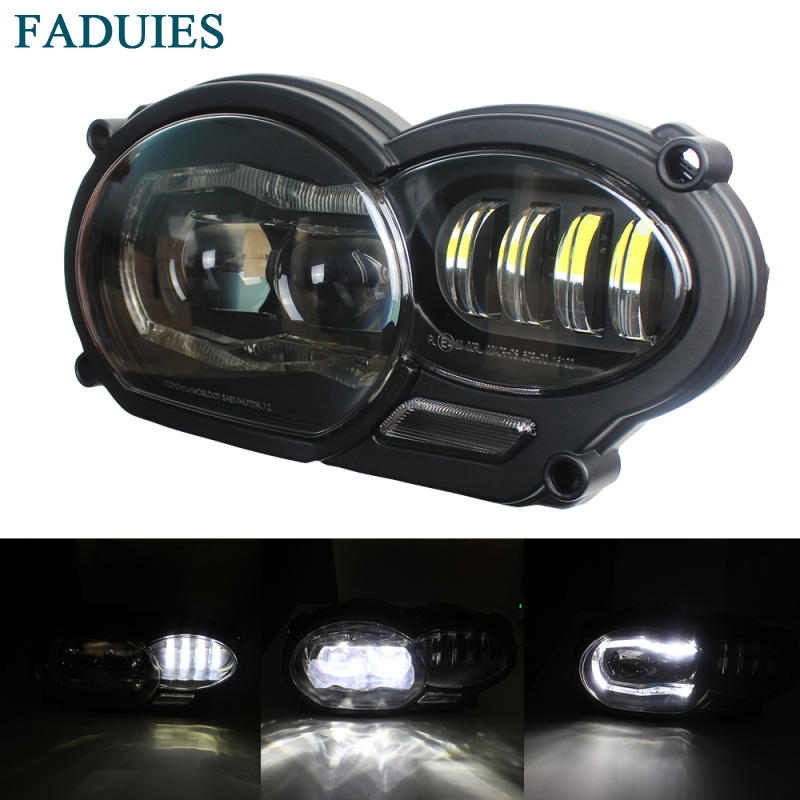 New 2018 Motorcycle LED Headlight For BMW 2005 2012 R1200GS / 2006 2013 R1200GS Adv Headlight