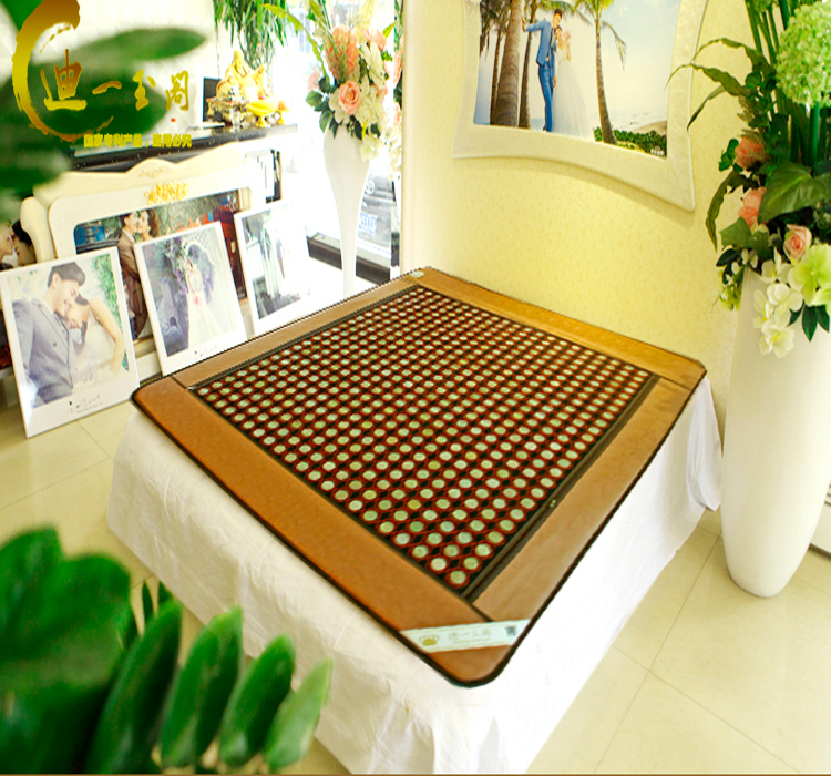 High quality jade! Jade health care mattress tourmaline Infrared heating Physical therapy mat AC220V Size 1.0X1.9M,Free shipping free shipping jade germanium stone mattress jade health care physical therapy mat tourmaline heating mattress eye cover1 2 1 9m