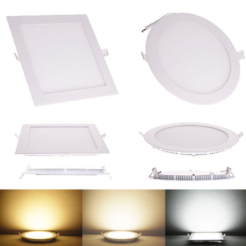 buy online 39101 fb8ac US $2.98 45% OFF|High quality 3W 9W 12W 18W thin LED Panel Light Warm  White/cold White square slim recessed LED Ceiling Spot Lighting Bulb  indoor-in ...