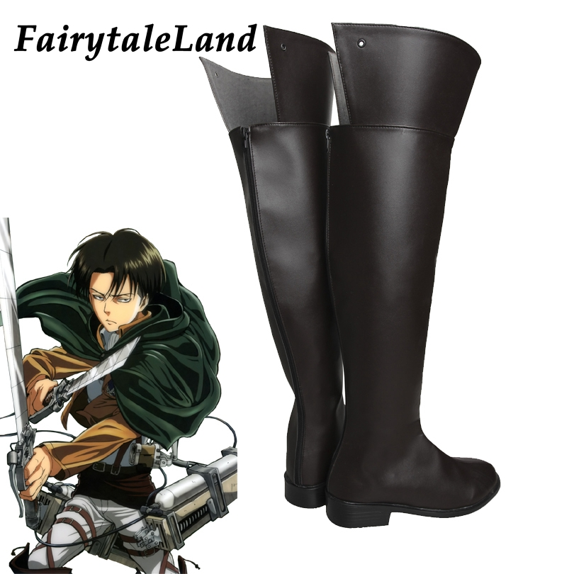 Attack on Titan Rival Ackerman Cosplay Shoes Halloween Costume Accessory cosplay Rival Mikasa Ackerman Dot Pixis boots