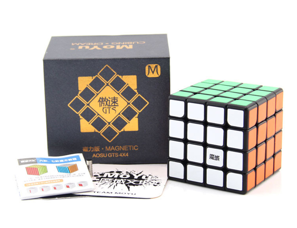 Aosu GTS M 4*4*4 Magnetic Magic Cubes Puzzle Speed Cube Educational Toys Gifts for Kids Children цены