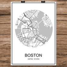 Compare Prices On Boston Wall Map Online ShoppingBuy Low Price - Boston in usa map