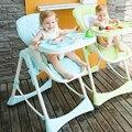 Bebês comer mesa e cadeira 2016 novo as crianças comem assento do bebê cadeira portátil cadeira dobrável multifuncional