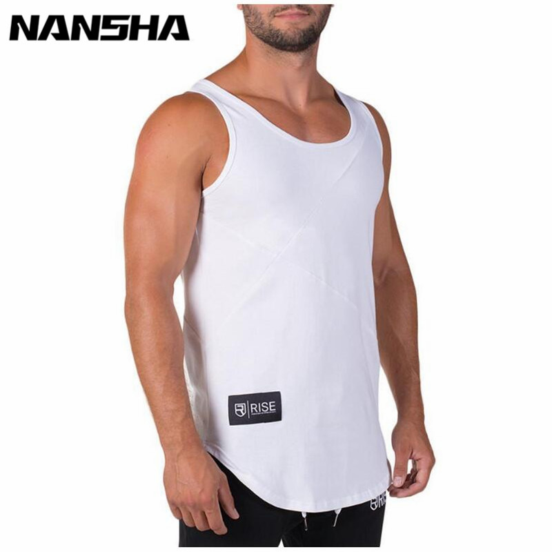RISE Summer Fashion Brand Men's Bodybuilding   Tank     Tops   Gyms Clothing O-neck Slim Fitness Singlets Man Sleeveless Vest