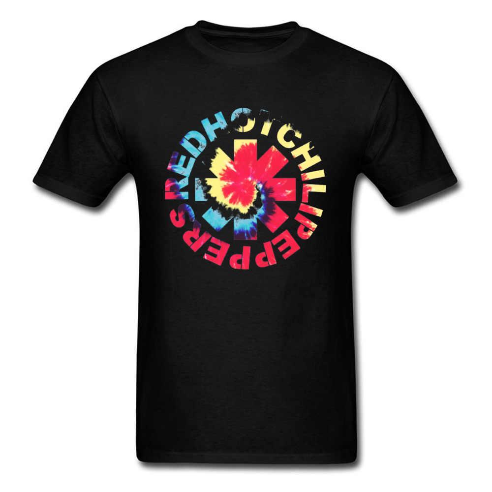赤 Tシャツ男性ホット Tシャツチリ手紙 Tシャツピーマントップスロックバンド Tシャツ男性ロゴプリントストリート学校ファンキー服