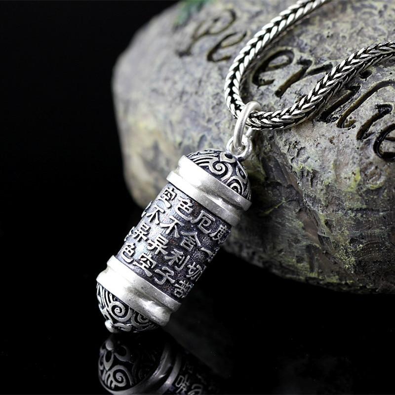 Pendentifs en forme de coeur bouddhiste fait à la main pendentifs en argent 925 pendentif Vintage bijoux fins cadeau d'anniversaire livraison gratuite