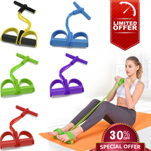 4 Tube Fitness Elastic Pull Rope Foot Pe