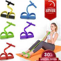 4 tubes Fitness élastique tirer corde pied pédale corps mince Yoga résistance bandes d'entraînement Latex bandes Sport exercice Fitness équipement