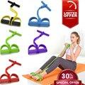 4 tubo de fitness elástico puxar corda pé pedal corpo magro bandas da resistência yoga workout látex esporte exercício equipamentos fitness