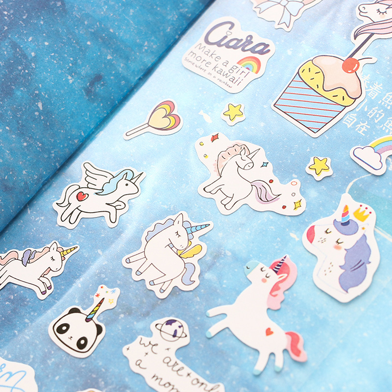1 Sheet Cute Unicorn Mini Paper Sticker Kawaii Stationery Creative Decoration Diy Ablum Diary Scrapbooking Label Sticker 10 is кожаные ботинки ten 3 velcros