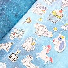 1 Sheet Cute Unicorn Mini Paper Sticker Kawaii Stationery Creative Decoration Diy Ablum Diary Scrapbooking Label Sticker