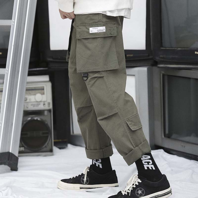 buy cheap custom factory US $27.45 37% OFF Fashion Oversized Harem Cargo Pants for Men and Women  Trousers Casual Wide Loose Baggy Hip Hop Streetwear Jogges Pants-in Cargo  ...