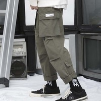 Fashion Oversized Harem Cargo Pants for Men and Women Trousers Casual Wide Loose Baggy Hip Hop Streetwear Jogges Pants